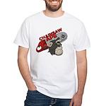 White T-Shirt :: Chainsawapeface :: Mens