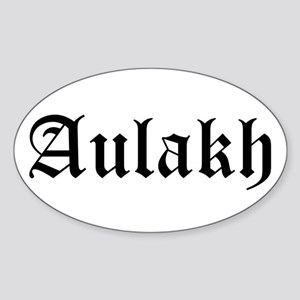 Aulakh Oval Sticker