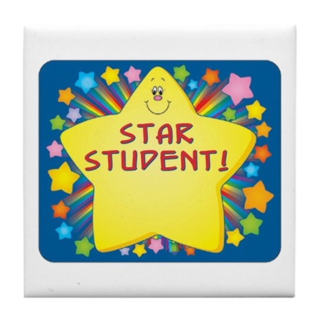Star Student Tile Coaster