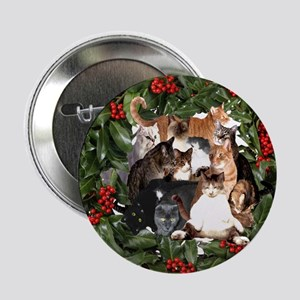 "HOUSECATS MAKE HOLIDAYS HAPPIER! 2.25"" Button"