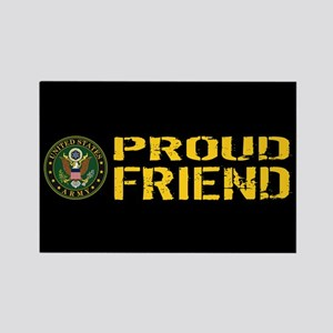 U.S. Army: Proud Friend (Black & Rectangle Magnet