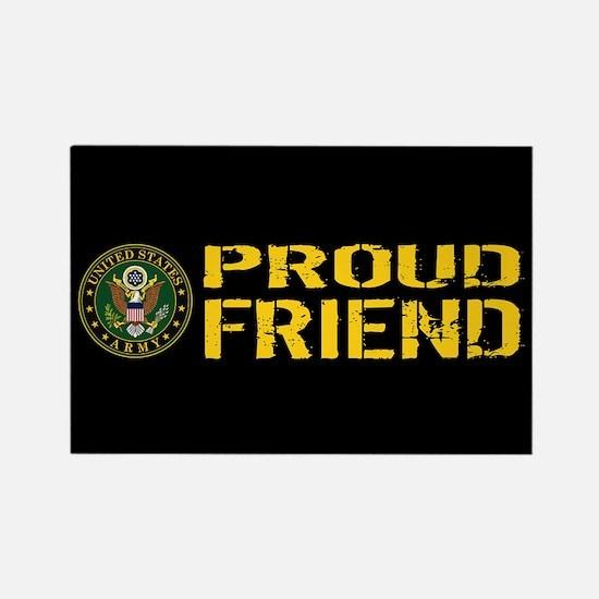 U.S. Army: Proud Friend (Black & Rectangle Magnet