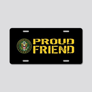 U.S. Army: Proud Friend (Bl Aluminum License Plate