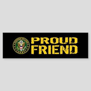 U.S. Army: Proud Friend (Black & Sticker (Bumper)