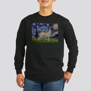 Starry / Gr Dane (f) Long Sleeve Dark T-Shirt