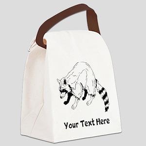 Raccoon Canvas Lunch Bag