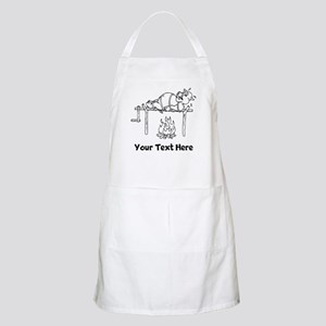 Pig Roast Cartoon Apron