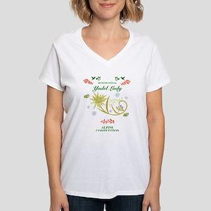 Yodel Lady Women's V-Neck T-Shirt