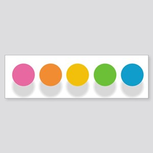 Rainbow Dots Bumper Sticker