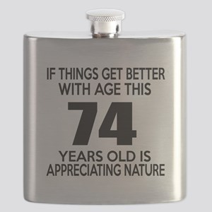 74 Years Old Is Appreciating Nature Flask