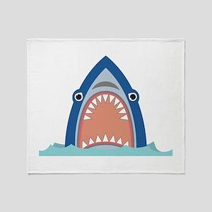 Shark Face Throw Blanket
