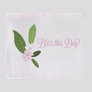 Bless This Day Throw Blanket