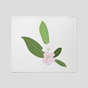 Dogwood Flower Throw Blanket