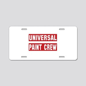 Universal Paint Crew Aluminum License Plate