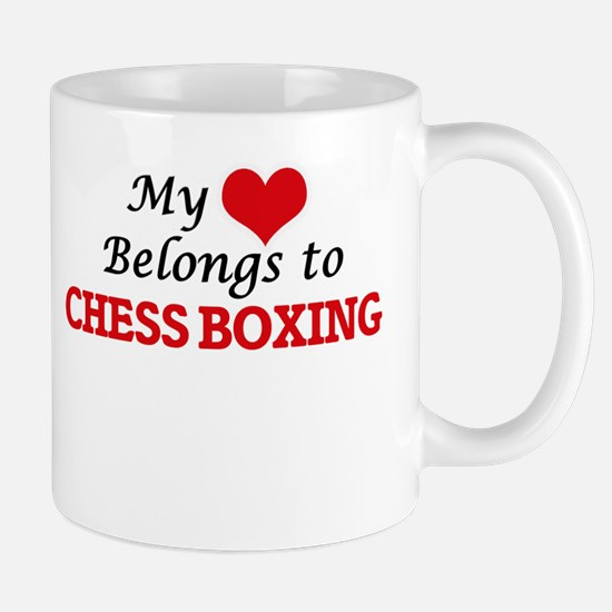 My heart belongs to Chess Boxing Mugs