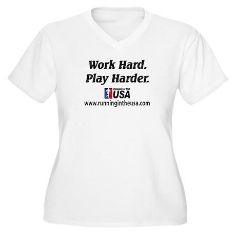 RUSA - Work Hard. Play Harder Women's Plus Size V-