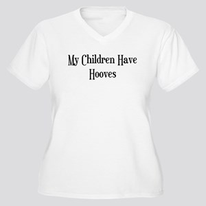 My Children Have Hooves Women's Plus Size V-Neck T