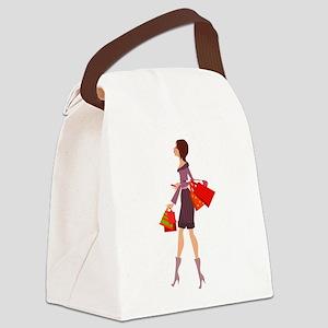 elegant lady Canvas Lunch Bag