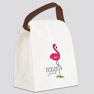 Tickled Pink Canvas Lunch Bag