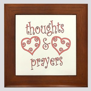 Thoughts and Prayers Framed Tile