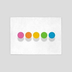 Rainbow Dots 5'x7'Area Rug