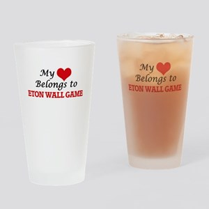 My heart belongs to Eton Wall Game Drinking Glass