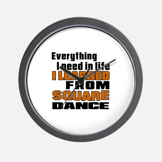 I Learned Square dance Wall Clock