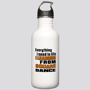 I Learned Square dance Stainless Water Bottle 1.0L