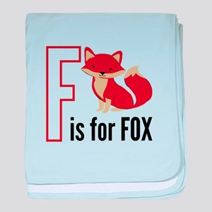 F For Fox baby blanket