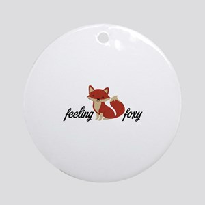 Feeling Foxy Round Ornament