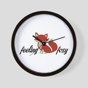 Feeling Foxy Wall Clock