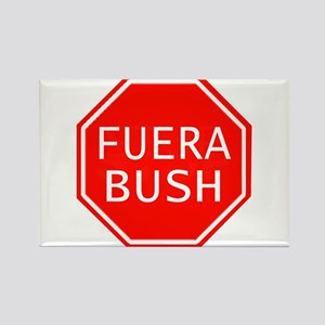 Fuera Bush en espanol Rectangle Magnet