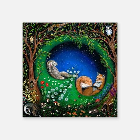 """Cool Cute owl Square Sticker 3"""" x 3"""""""