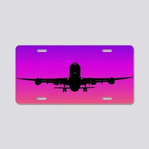 Pacific Plane Aluminum License Plate