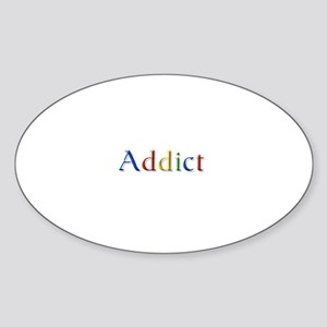 Google Addict Oval Sticker