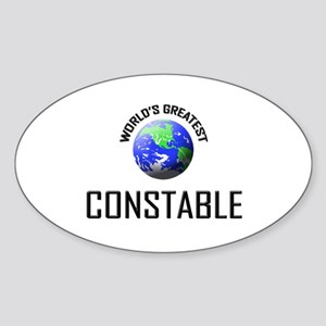World's Greatest CONSTABLE Oval Sticker