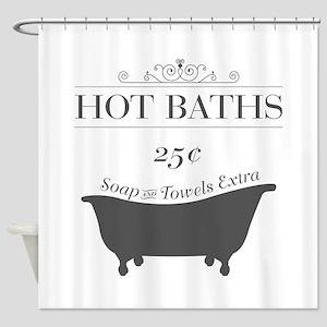 Hot Bath Shower Curtain