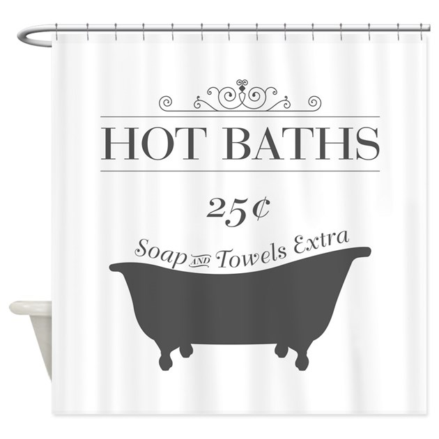 Hot Bath Shower Curtain By ADMIN CP170392
