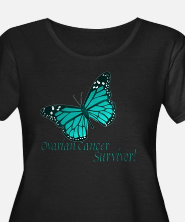 Ovarian Cancer Surviv Plus Size Scoop Neck T-Shirt