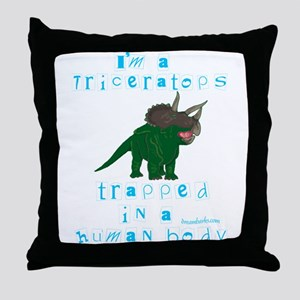 I'm a Triceratops Throw Pillow