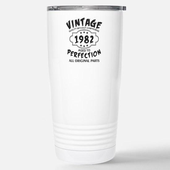 Vintage 1982 Stainless Steel Travel Mug