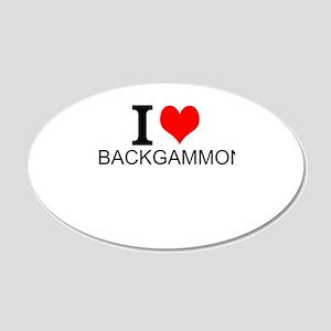 I Love Backgammon Wall Decal