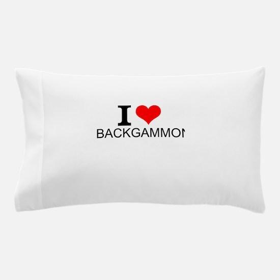 I Love Backgammon Pillow Case