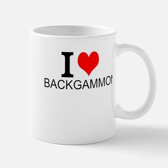 I Love Backgammon Mugs