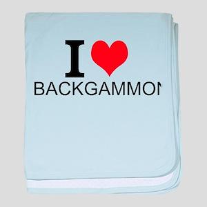 I Love Backgammon baby blanket