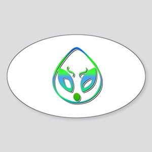 Alien Blue Oval Sticker