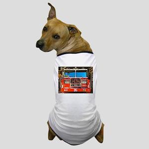 Big Red Fire Truck (II) Dog T-Shirt