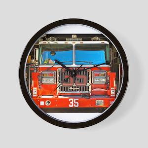 Big Red Fire Truck (II) Wall Clock