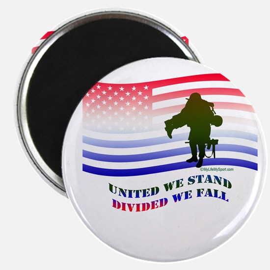"""UNITED WE STAND DIVIDED WE FALL 2.25"""" Magnet (100"""