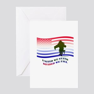 UNITED WE STAND DIVIDED WE FALL Greeting Card
